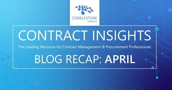 Read CobbleStone Software's April 2020 blog recap.