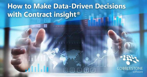 CobbleStone's Contract Insight supports data-driven contract management.