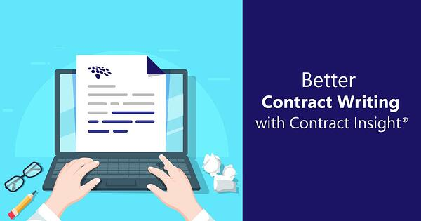 Contract writing process shown on laptop.