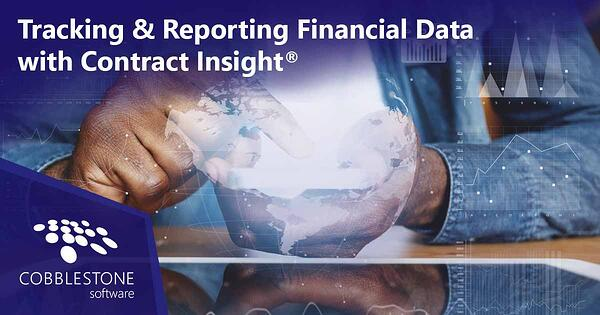 CobbleStone Software can track and report financial data related to contracts.