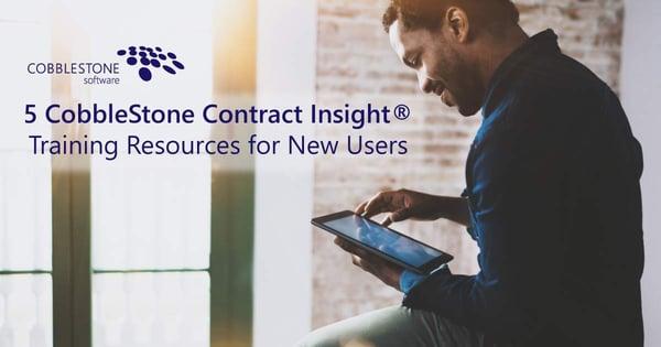 5 CobbleStone Contract Insight Training Resources.