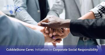 CobbleStone Software shares its initiatives in corporate social responsibility.