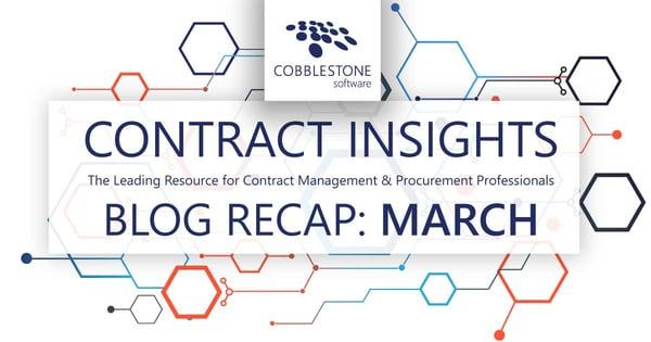CobbleStone Software offers its March 2021 blog recap.