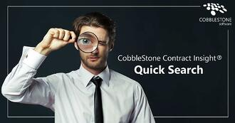 CobbleStone Software offers a step-by-step guide for using Quick Search in CobbleStone Contract Insight.
