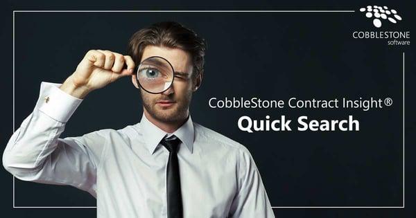 CobbleStone Software Contract Insight Quick Search.