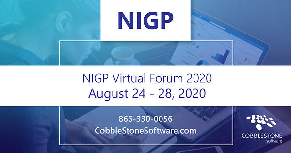 CobbleStone is exhibiting at NIGP Virtual Forum 2020.