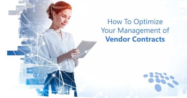 CobbleStone Software explains how to optimize your management of vendor contracts.