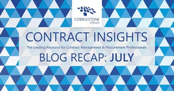 CobbleStone Software presents its blog recap for July 2021.