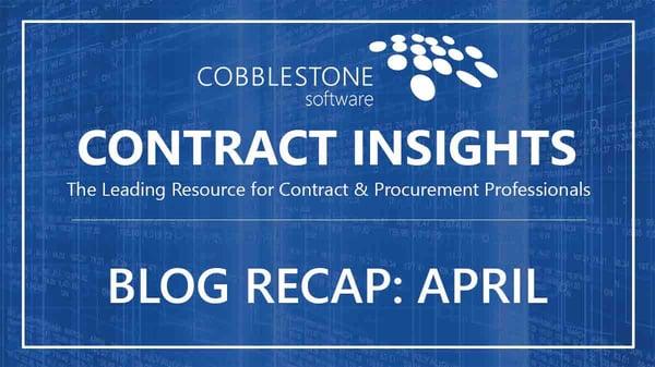 CobbleStone Software Blog Recap April 2019