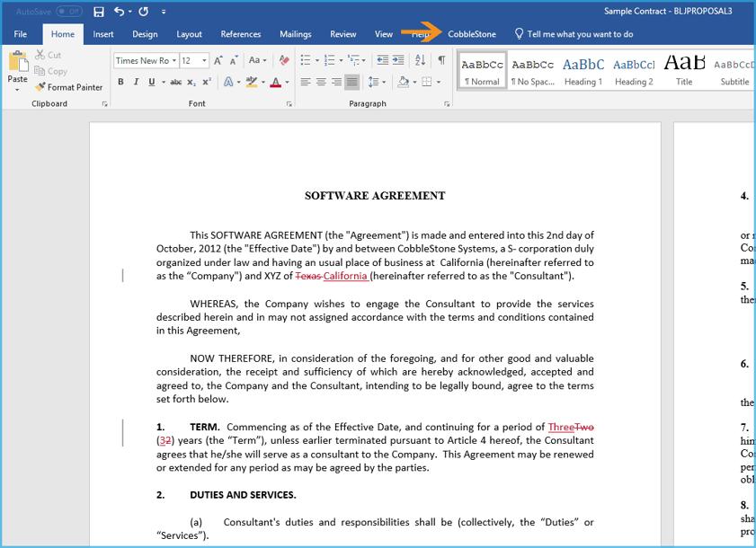 CobbleStone File Utility MS Word Edits