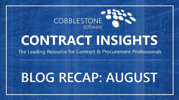 CobbleStone Software Blog Recap August 2019