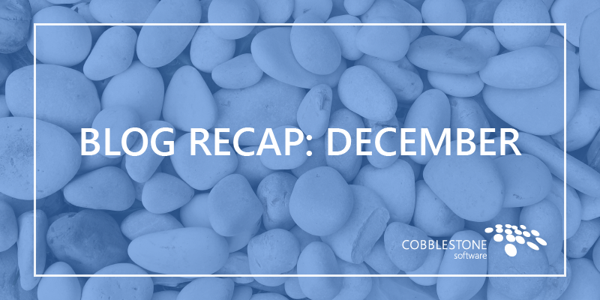 Blog Recap December 2018