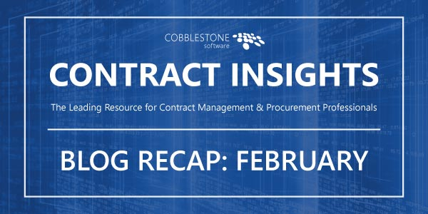 CobbleStone Blog Recap February 2019