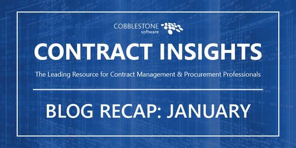CobbleStone Software blog recap January 2019