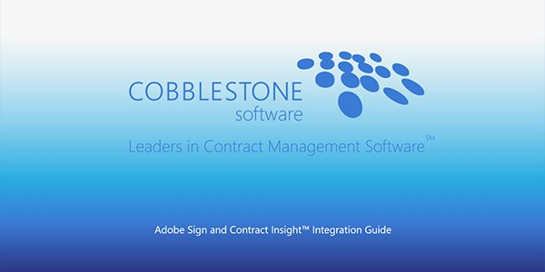 Adobe Sign and Contract Insight Integration Guide