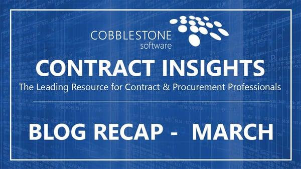 CobbleStone Software Blog Recap March 2019