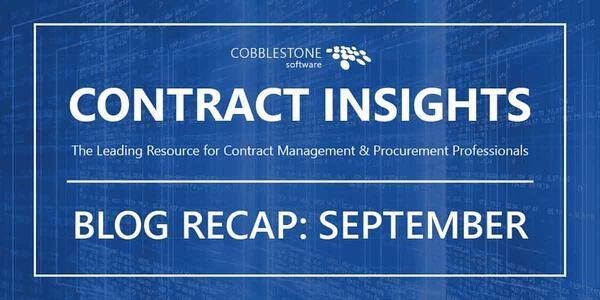 Read CobbleStone Software's September 2019 Blog Articles