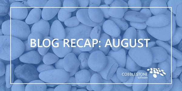 Blog Recap August 2018
