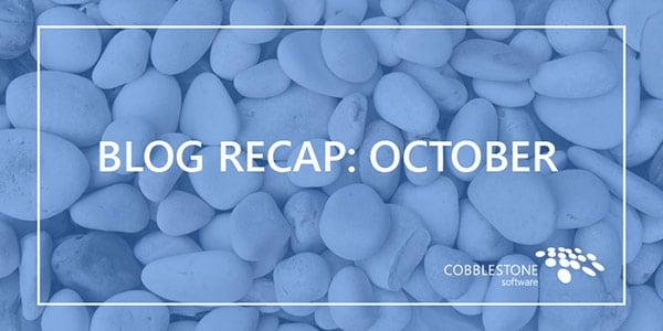 Blog recap October 2018