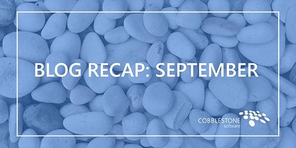 Blog Recap September 2018