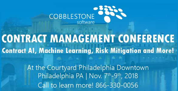 contract management software conference 2018