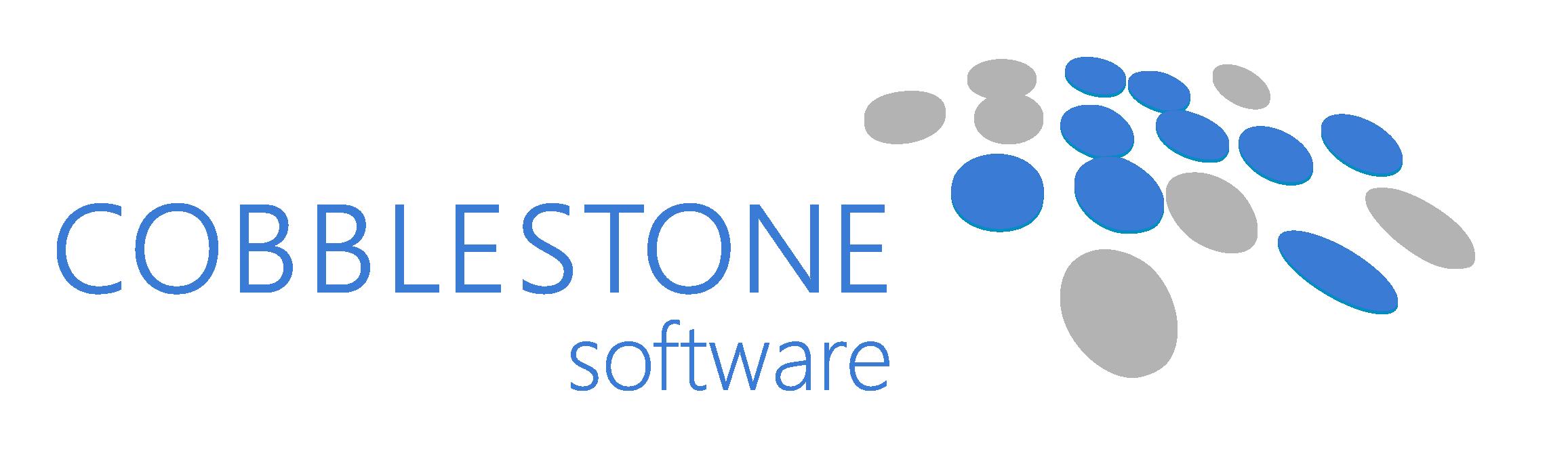 CobbleStone Software CLM Logo Aqua Grey
