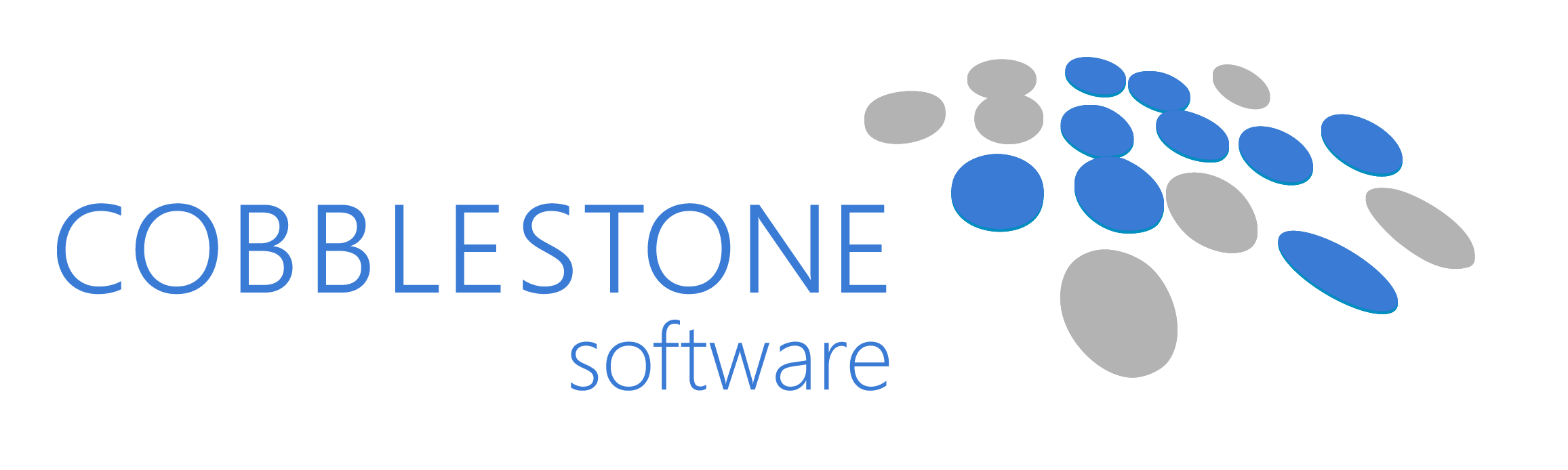 CobbleStone Software CLM Logo Aqua Grey
