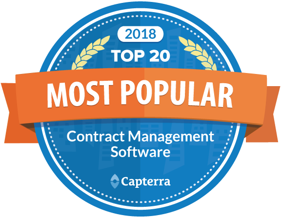 capterra contract management software award image