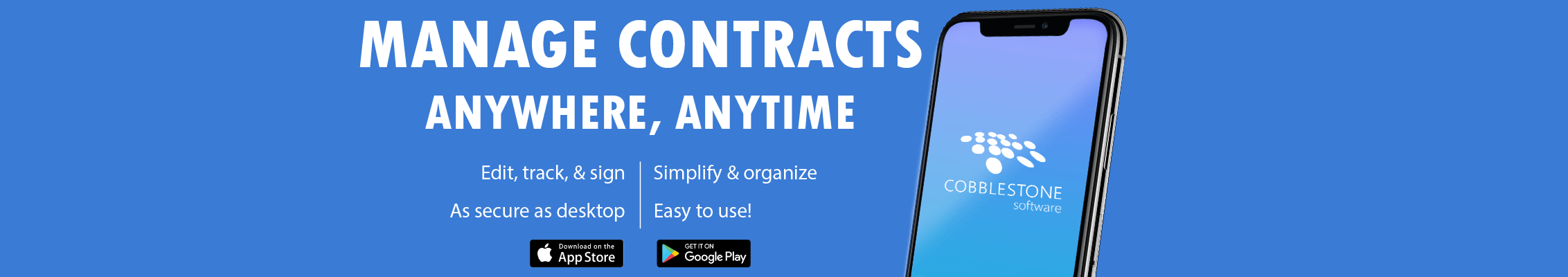 Managing Contracts Anywhere, Anytime is Easy with CobbleStone Software