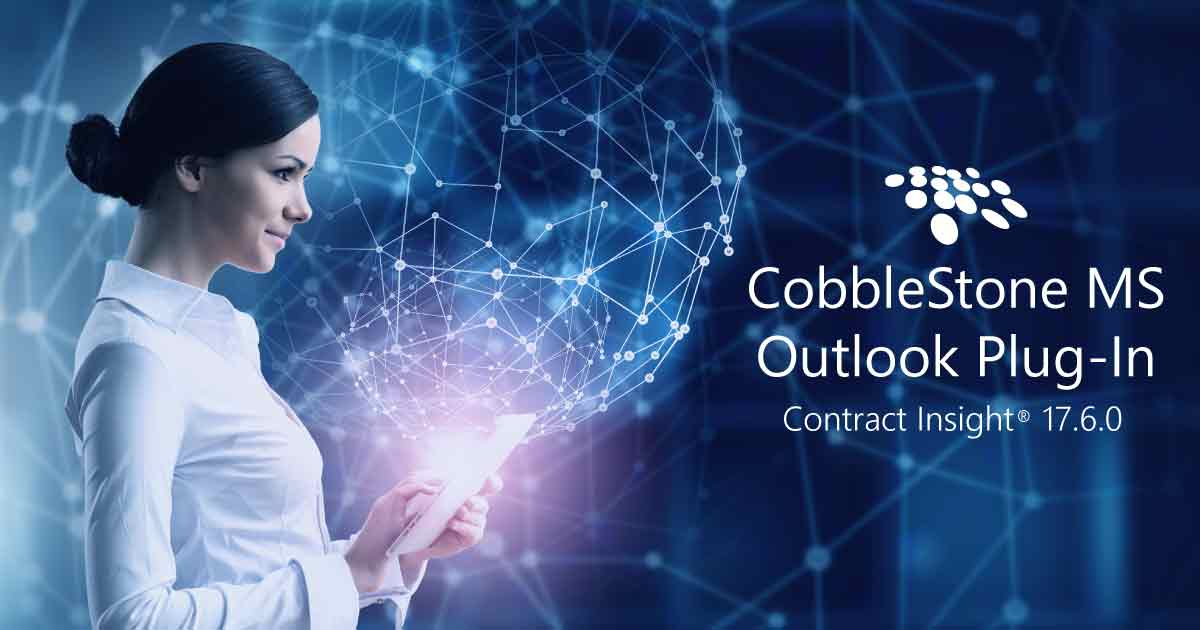 CobbleStone's MS Word Plug-in improves contract management.