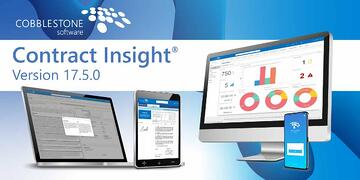 CobbleStone released Contract Insight Enterprise 17.5.0 during Feb. 2020.