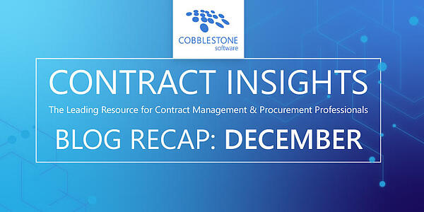 Read CobbleStone's December 2019 blog recap.