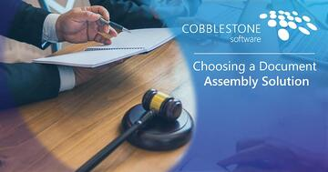 CobbleStone offers an excellent document assembly solution.