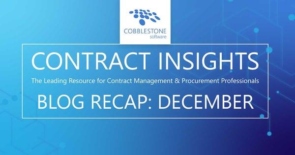 CobbleStone Software presents its December 2020 blog recap.