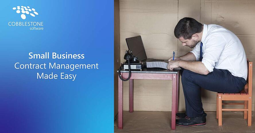 CobbleStone Software improves small business contract management.