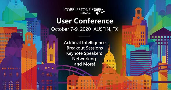 CobbleStone-2020-User-CobbleStone's 2020 User Conference will be held in Austin, Texas.