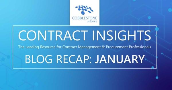 Read CobbleStone's January 2020 blog recap.