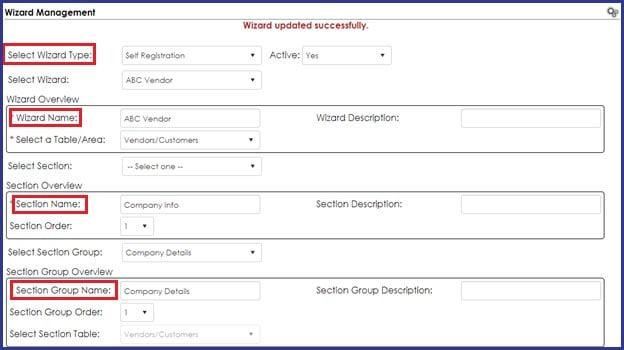 CobbleStone Software offers wizard management for robust vendor registration configurations.