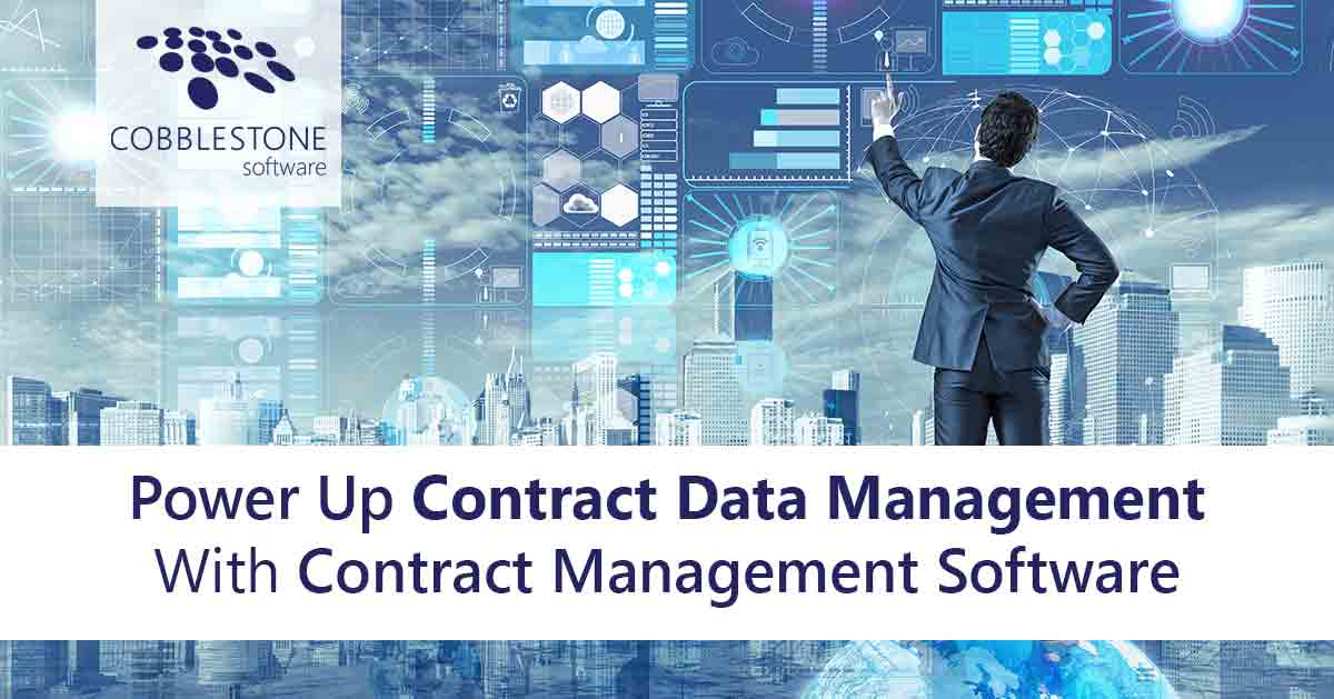 CobbleStone Software offers robust contract data management.
