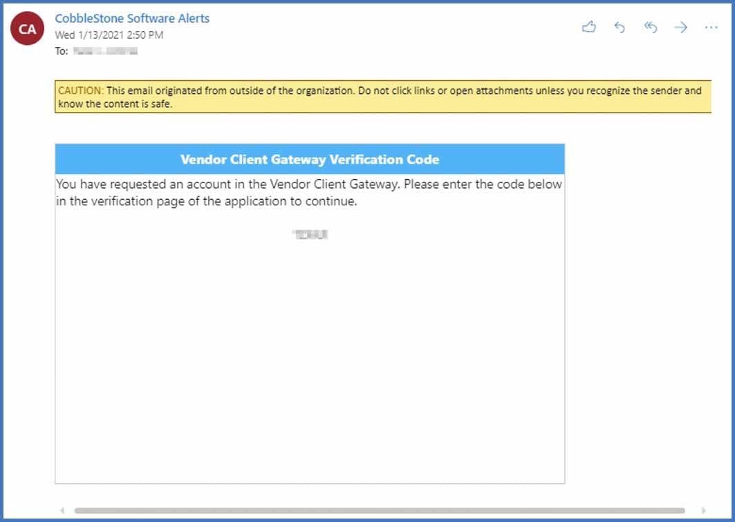 CobbleStone Software offers vendor gateway multi-factor authentication.