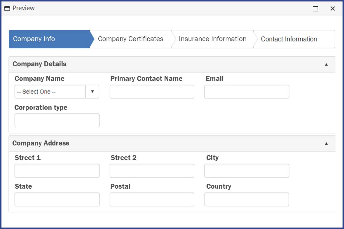 CobbleStone Software offers a preview feature on vendor registration wizards for optimal vendor management oversight.