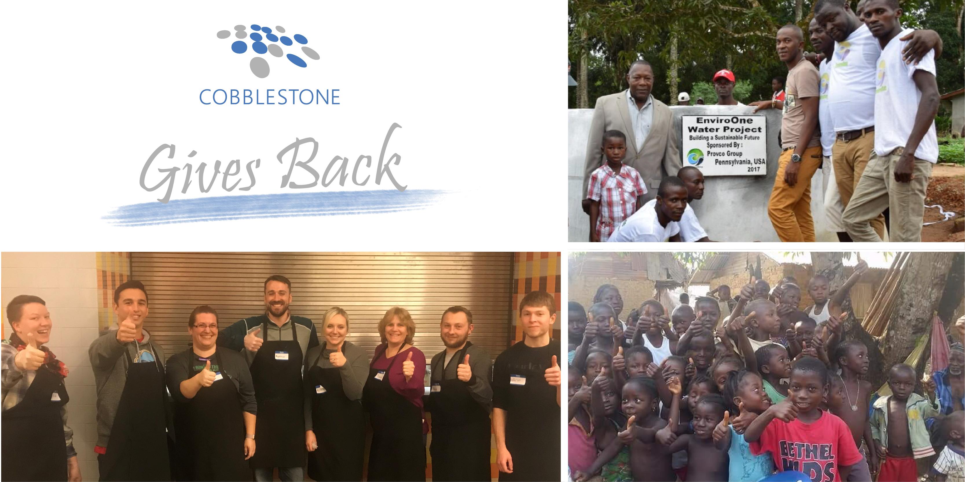 CobbleStone Gives Back