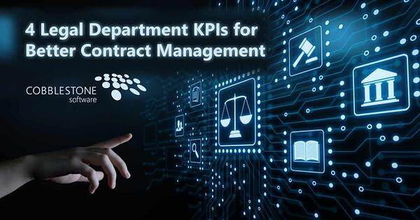 CobbleStone helps legal department hit KPIs for better contract management.