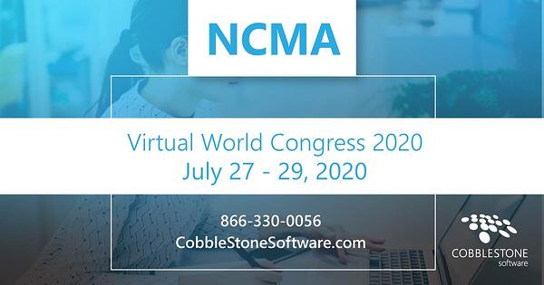 CobbleStone is presenting at NCMA Virtual World Congress 2020.