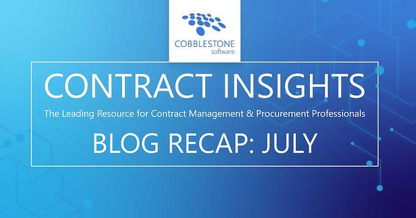 Read CobbleStone's July 2020 blog recap.