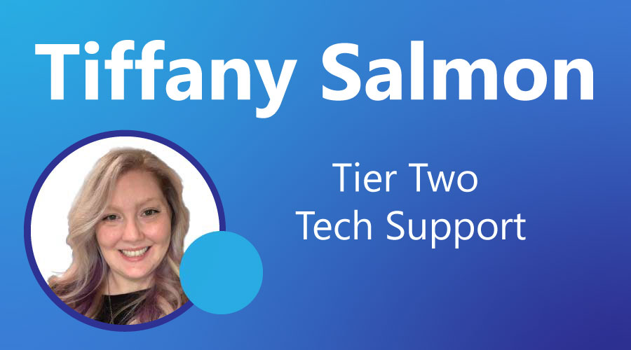 CobbleStone Software presents Tiffany Salmon in its Employee Excellence Awards recipient showcase.