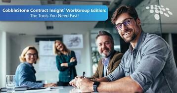 CobbleStone Software highlights the robust features of CobbleStone Contract Insight® WorkGroup Edition.
