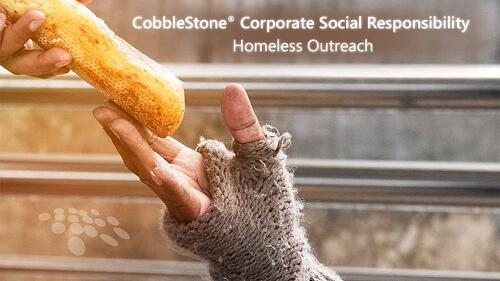 CobbleStone Software shares about its corporate social responsibility initiative of homeless outreach.