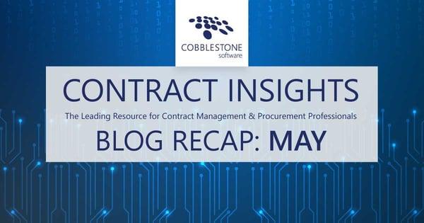 CobbleStone Software offers its May 2021 blog recap.