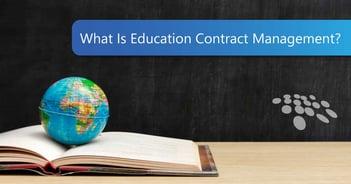 CobbleStone Software explains education contract management.